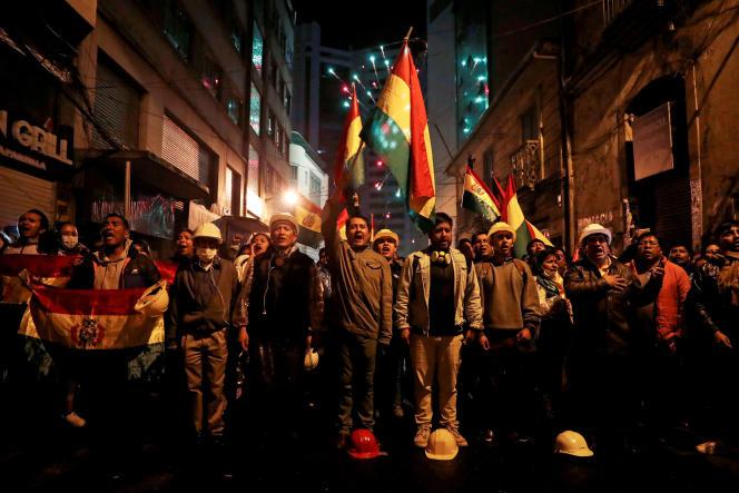 Manifestations à La Paz contre le président Morales, le 8 novembre.