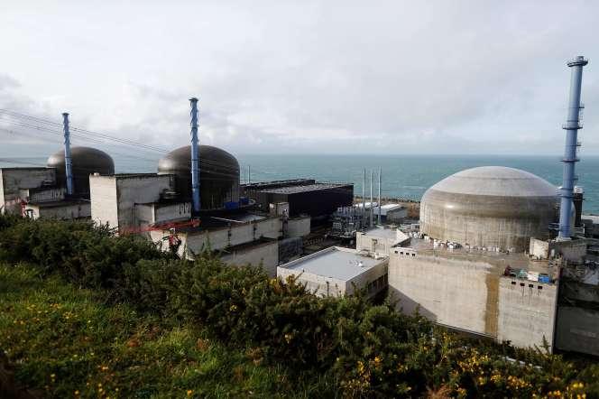 Sur le chantier du réacteur EPR de Flamanville (Manche), le 16 novembre.