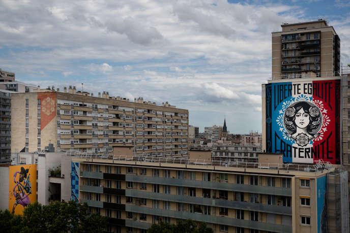 Dans le 13ème arrondissement de Paris, en juin.