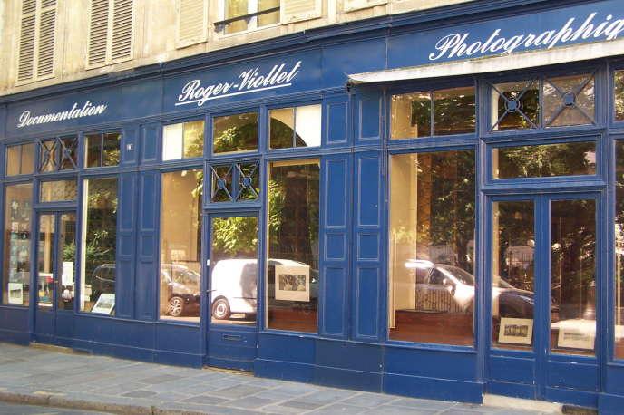 L'agence de photographies Roger-Viollet, rue de Seine, à Paris, en 2013.