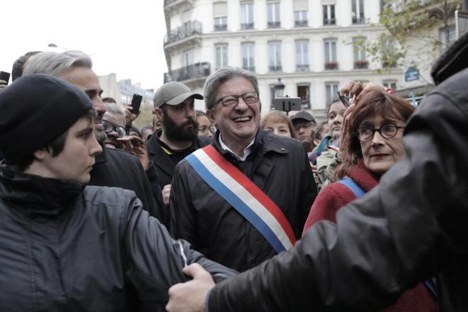 Jean-Luc Mélenchon, lors de la marche «Stop à l'islamophobie», à Paris, le dimanche 10novembre.