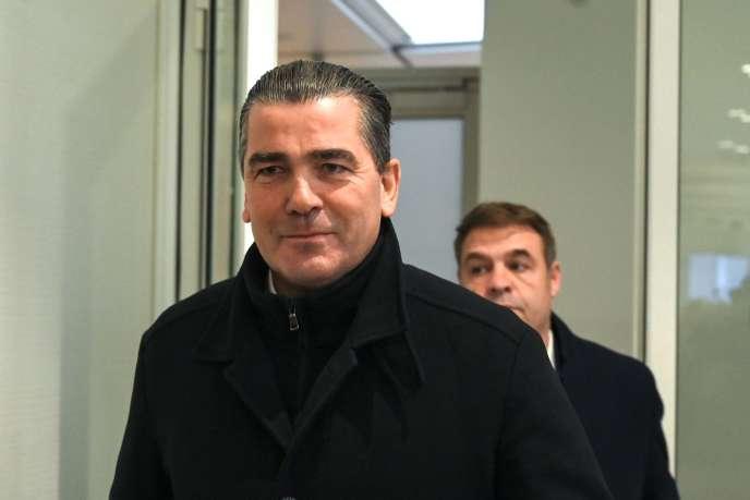 Frédéric Chatillon, patron de l'entreprise Riwal, à son arrivée au tribunal de grande instance de Paris, le 6 novembre 2019.