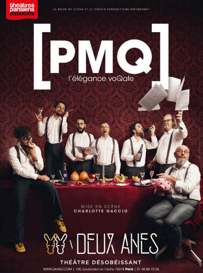 Affiche du spectacle« L'Elégance voQale», de l'ensemble PMQ.
