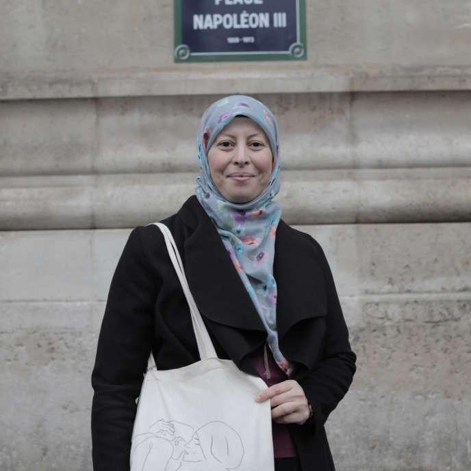 """Mariem Sabil, nhân viên pháp lý tại CCIF: """"Chúng tôi phải chịu đựng một tháng bạo lực và kỳ thị người Hồi giáo, điều cần thiết là phải huy động. """""""