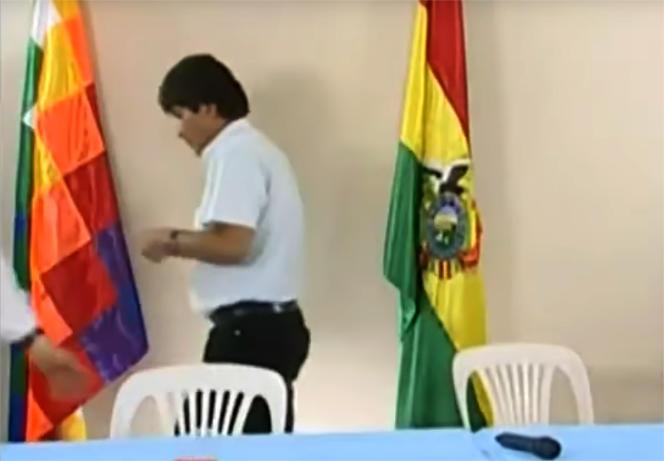 Evo Morales après sa démission, dimanche 10 novembre.
