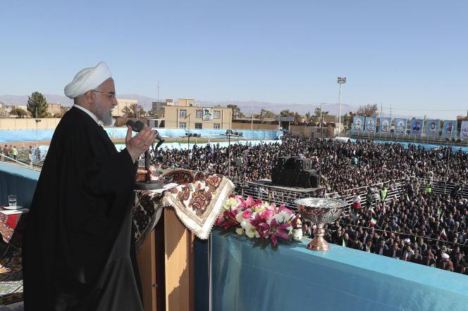 Le président iranien Hassan Rohani, le 11 novembre àRafsanjan.