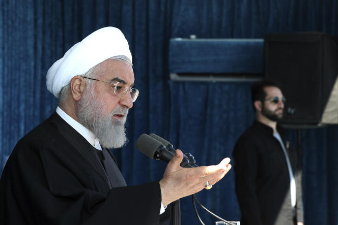 Le président Hassan Rohani, le 11 novembre àRafsanjan, dans la province deKerman, Iran.