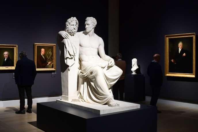 Exposition «Canova Thorvaldsen, la naissance de la sculpture moderne», à la Gallerie d'Italia, de la banque Intesa Sanpaolo, à Milan, le 6 novembre.