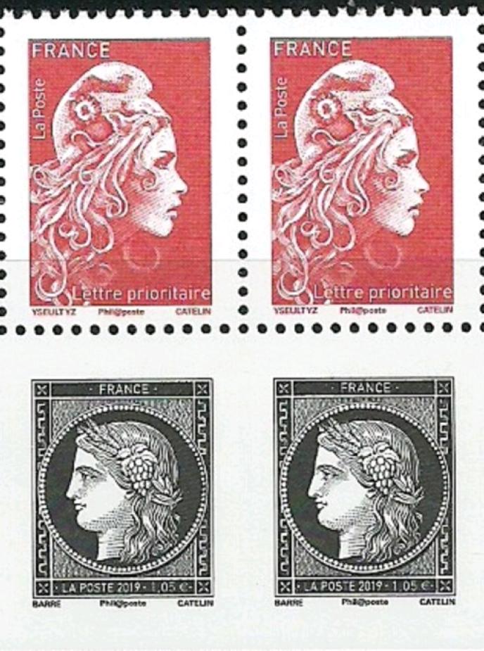 A collectionner, les timbres différents se tenant...