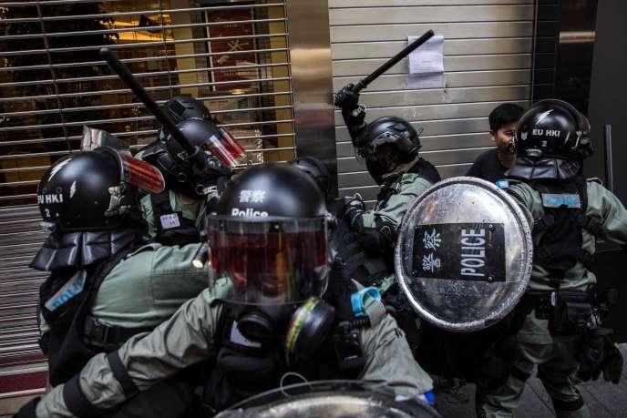 A Hongkong, dans le quartier de Central, le 11 novembre.