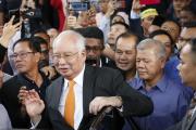 L'ex-premier ministre Najib Razak devant la Haute Cour de Kuala Lumpur, lundi 11novembre.