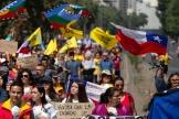 Manifestation contre le gouvernement du président chilien Sebastian Pinera à Santiago, le 12 novembre 2019.