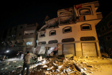 Le domicile du commandant Baha Abu Al-Atta après une frappe d'Israël, le 12 novembre à Gaza.