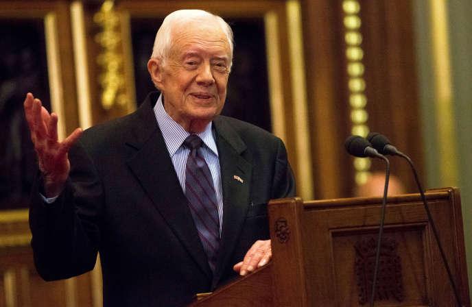 Jimmy Carter, en 2016 à Londres.