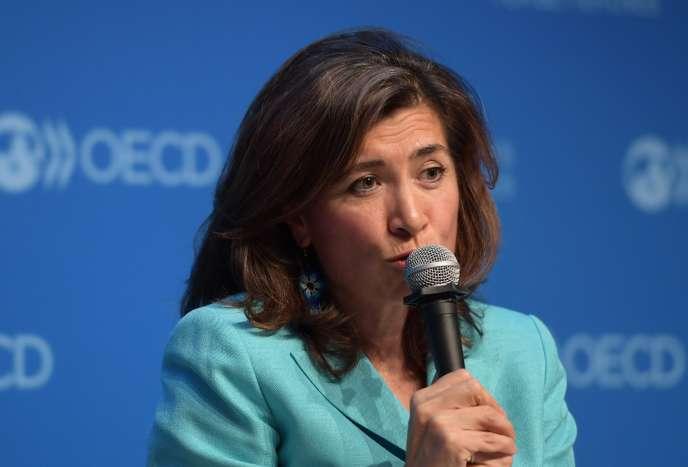 Gabriela Ramos, directrice de cabinet du secrétaire général de l'OCDE, lors d'une conférence à Paris, en décembre 2016.
