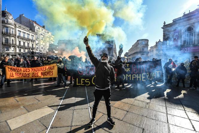 Les « gilets jaunes», le 9 novembre à Montpellier.