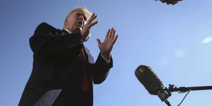 Le premier épisode de «Washington d'ici», diffusé depuis le 4novembre, s'intéresse à la manière dont les Américains vivent l'impeachment qui menace Donald Trump (ici, le 3novembre).