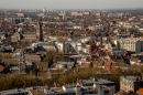 A picture taken on March 30, 2017 shows a view of the northern French city of Lille. (Photo by PHILIPPE HUGUEN / AFP)