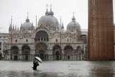 En Italie, Venise touchée par une «marée haute» historique