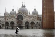 La place Saint Marc, à Venise, en Italie, le 12 novembre.