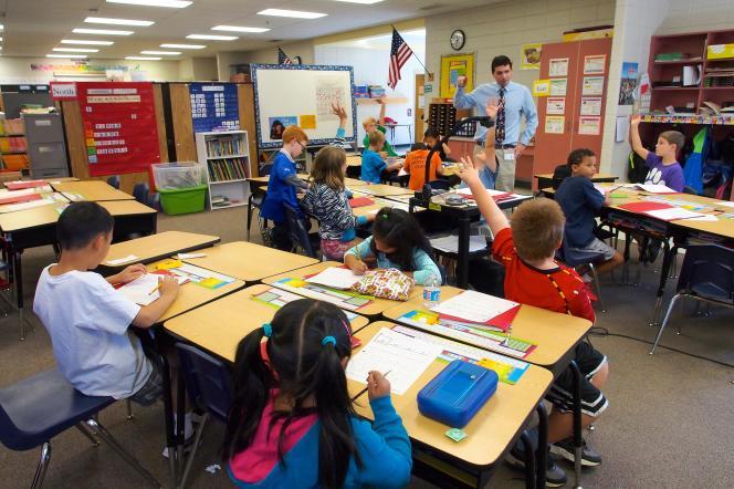 Une salle de classe à Ellicott City (Maryland) en 2013.