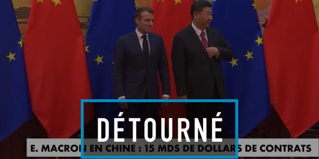 Non, le drapeau français n'était pas absent de la visite de Macron en Chine