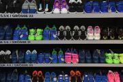Des baskets Adidas, sur le site du groupe à Herzogenaurach, en Allemagne, le 8 mars 2017.