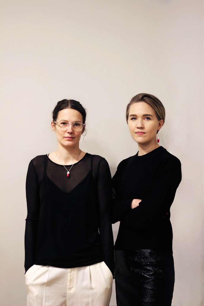Rebecka Hallencreutz et Klara Rydström, membres de l'association Mensen («menstruation» en suédois).
