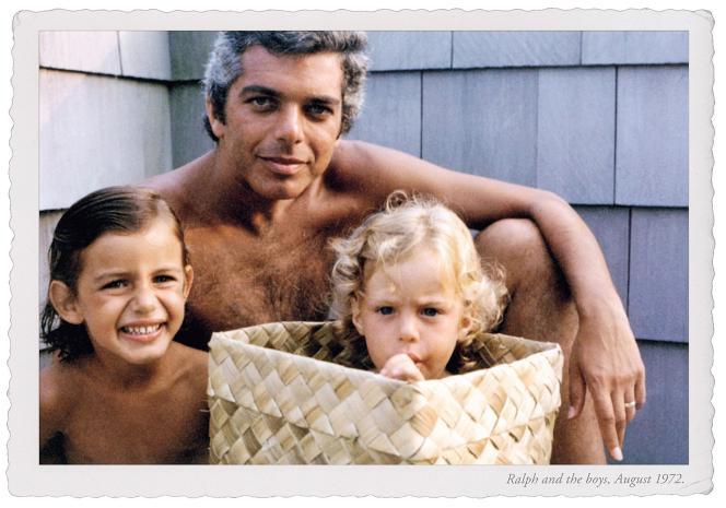 Ralph Lauren avec deux de ses trois enfants.