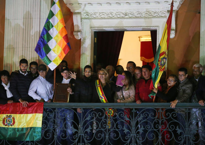 La présidente par intérim de la Bolivie, Jeanine Añez, le 12 novembre à La Paz.