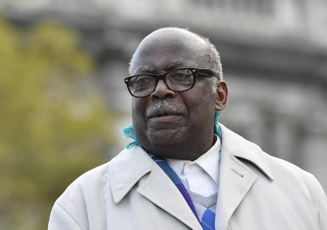 Le Rwandais Fabien Neretsé lors de la première journée de son procès à Bruxelles, le 7novembre 2019.