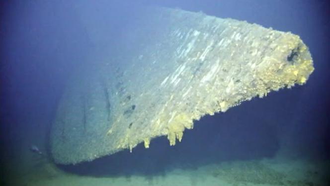L'avant du sous-marin USS «Grayback».
