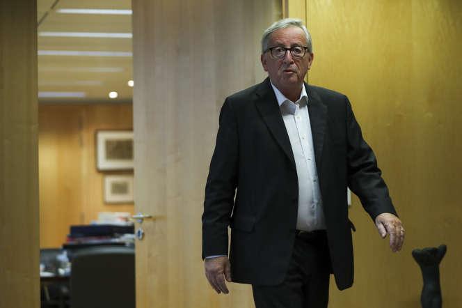 Le président de la Commission européenne, Jean-Claude Juncker, à Bruxelles,le 15 octobre.