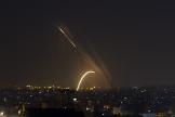 Des roquettes tirées depuis la bande de Gaza vers Israël, le 13 novembre.