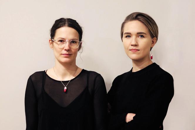 Rebecka Hallencreutz (à gauche) et Klara Rydström, membres de l'association Mensen («menstruation» en suédois).