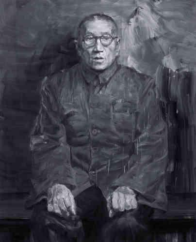 «Avec le portrait de sa mère et ici de son grand-père, Yan Pei-Ming, comme Courbet avec Proudhon ou avec sa jeune sœur, a la volonté très forte de rendre hommage aux siens, de les magnifier, de les honorer.»