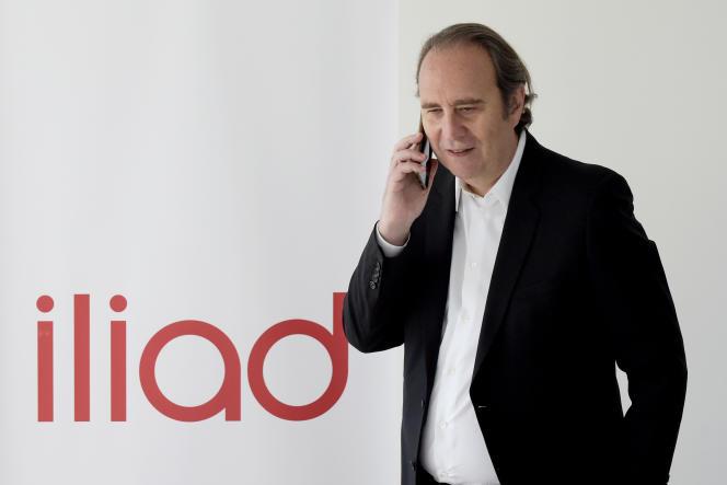 Xavier Niel, fondateur d'Iliad, au siège social du groupe, à Paris, le 3 septembre.
