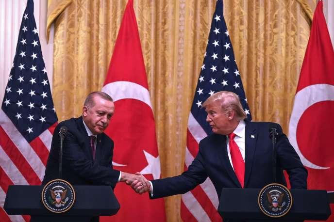 Les présidents Recep Tayyip Erdogan et Donald Trump le 13 novembre à Washington.