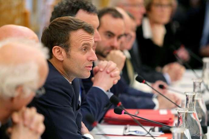 Emmanuel Macron, le 14 novembre à Epernay.