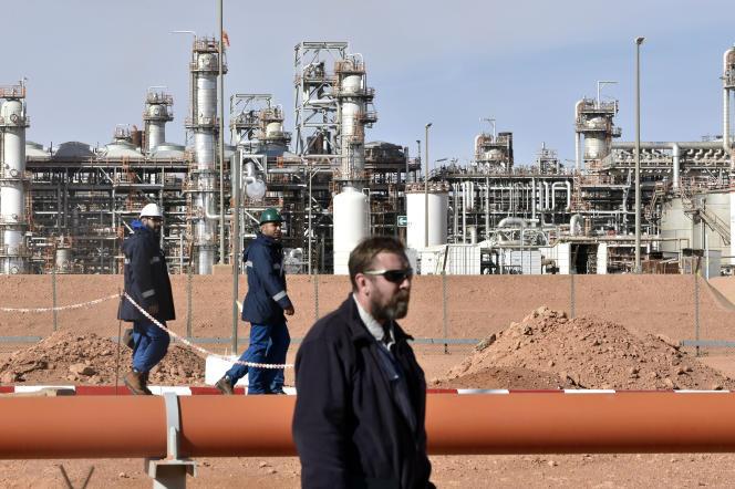 Le site d'exploitation gazière d'In Amenas, dans le sud-est algérien, en janvier 2018.