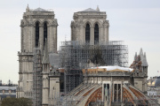 Vue du chantier de Notre-Dame de Paris, le 9 septembre 2019.