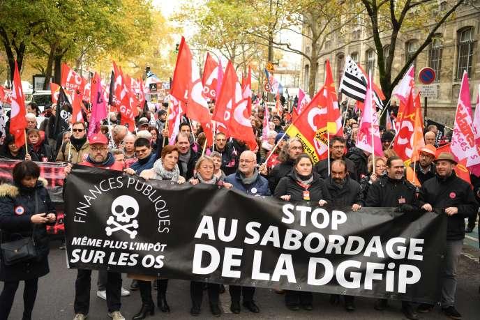 Lors de la manifestation à Paris, le 14 novembre.