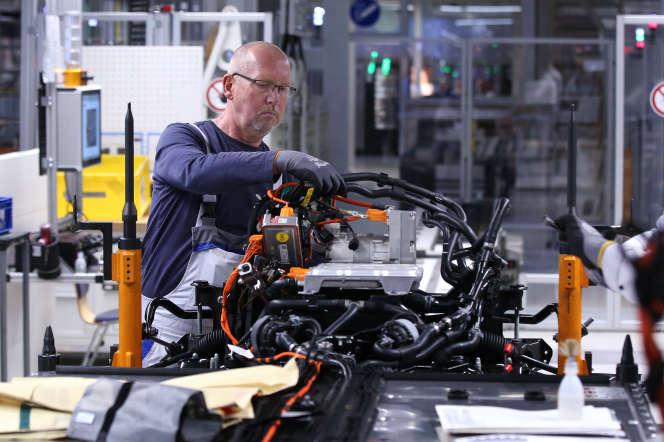 Une usine Volkswagen à Zwickau, en Allemagne, le 4 novembre.