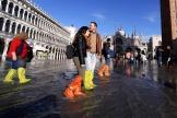 Sur la place Saint-Marc de Venise, le 14 novembre.
