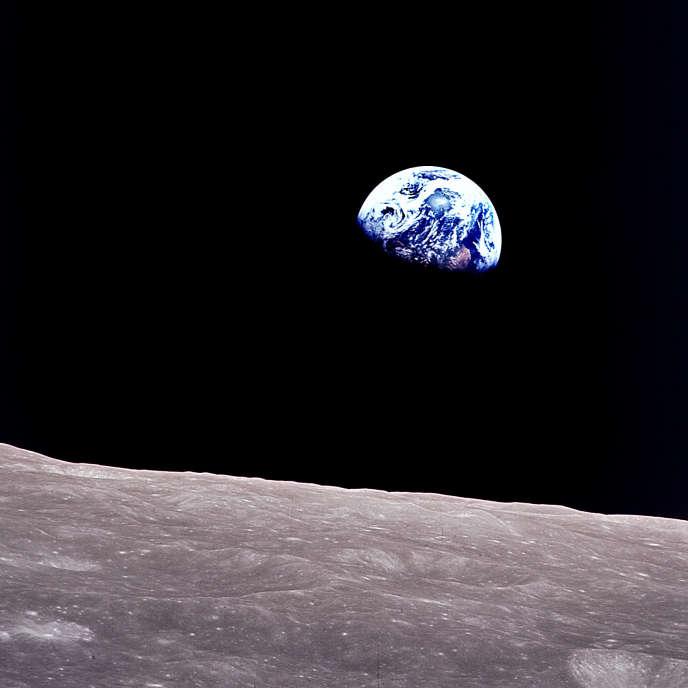 La Terre vue de la Lune, en 1968.