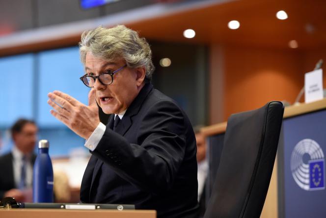Thierry Breton, lors de son audition devant le Parlement européen, le 14 novembre.