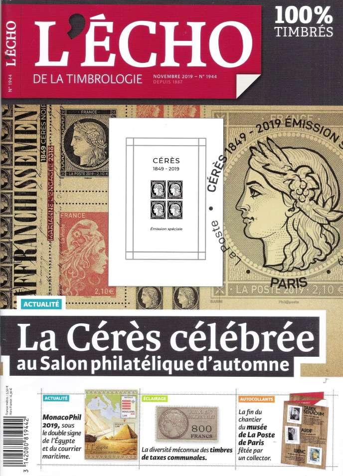 « L'Echo de la timbrologie », 92 pages, 5,50 euros.