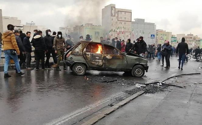 Manifestation à Téhéran le 16 novembre 2019.