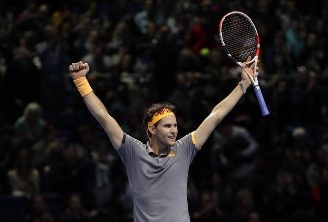 L'Autrichien Dominic Thiem s'est qualifié le 16 novembre pour la finale du Masters de tennis à Londres en battant le tenant du titre Alexander Zverez.