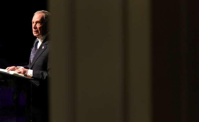 Michael Bloomberg lors d'un discours dans une église de Brooklyn, à New York, le 17novembre.